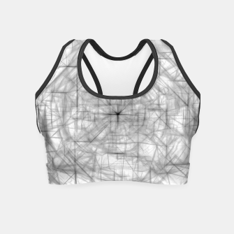 Thumbnail image of psychedelic drawing and sketching abstract pattern in black and white Crop Top, Live Heroes