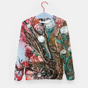 Thumbnail image of Tree of flowers  Kid's sweater, Live Heroes