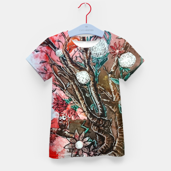 Thumbnail image of Tree of flowers  Kid's t-shirt, Live Heroes