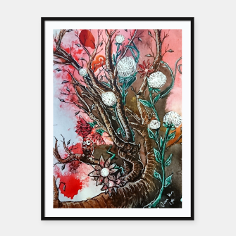 Thumbnail image of Tree of flowers  Framed poster, Live Heroes