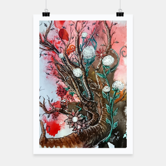 Thumbnail image of Tree of flowers  Poster, Live Heroes