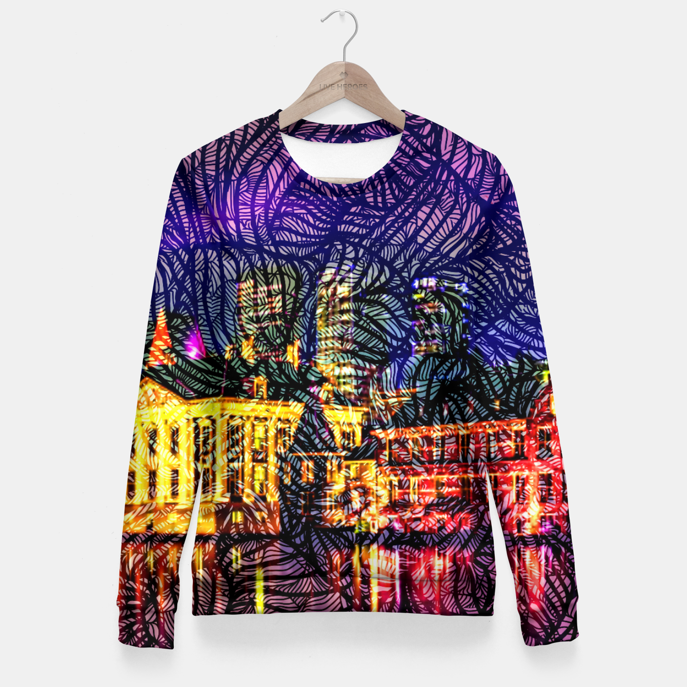 Image of HV Woman cotton sweater - Live Heroes