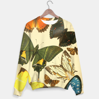 Thumbnail image of Royal Natural History 1893-1896 - Butterflies Cotton sweater, Live Heroes