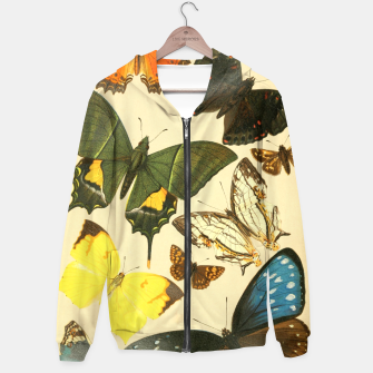 Thumbnail image of Royal Natural History 1893-1896 - Butterflies Cotton zip up hoodie, Live Heroes