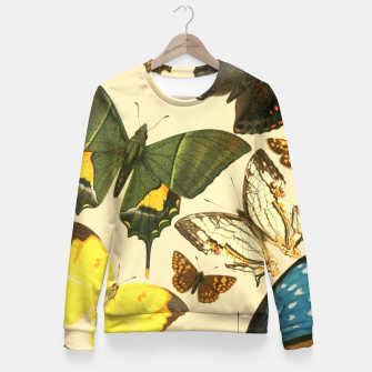 Thumbnail image of Royal Natural History 1893-1896 - Butterflies Woman cotton sweater, Live Heroes