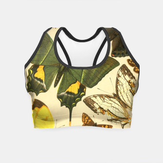 Thumbnail image of Royal Natural History 1893-1896 - Butterflies Crop Top, Live Heroes