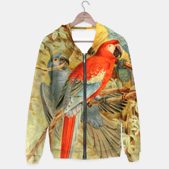 Thumbnail image of  Royal Natural History 1893-1896 - JCK (Macaws) Cotton zip up hoodie, Live Heroes