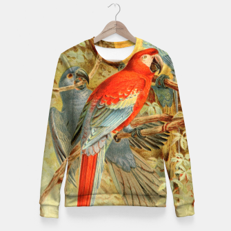 Thumbnail image of  Royal Natural History 1893-1896 - JCK (Macaws) Woman cotton sweater, Live Heroes
