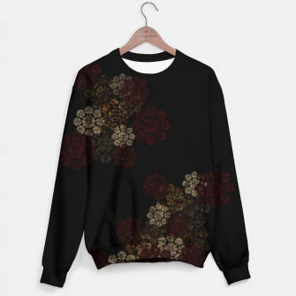 Miniatur Japanese traditional emblem art cherry blossoms black Cotton sweater, Live Heroes