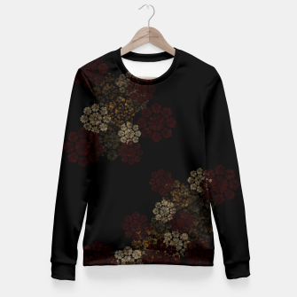 Miniatur Japanese traditional emblem art cherry blossoms black Woman cotton sweater, Live Heroes