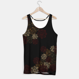 Miniatur Japanese traditional emblem art cherry blossoms black Tank Top, Live Heroes