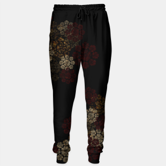 Thumbnail image of Japanese traditional emblem art cherry blossoms black Cotton sweatpants, Live Heroes