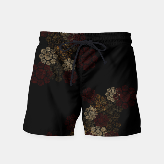 Thumbnail image of Japanese traditional emblem art cherry blossoms black Swim Shorts, Live Heroes