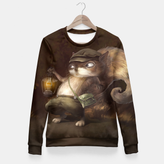 Thumbnail image of Little Squirrel Woman cotton sweater, Live Heroes