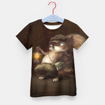 Thumbnail image of Little Squirrel Kid's t-shirt, Live Heroes