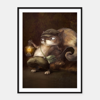 Thumbnail image of Little Squirrel Framed poster, Live Heroes