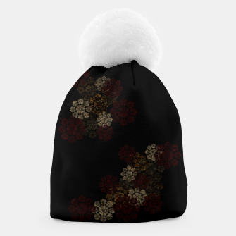 Miniatur Japanese traditional emblem art cherry blossoms black Beanie, Live Heroes