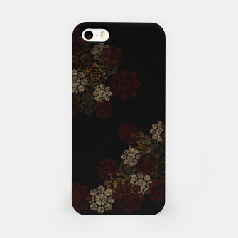 Miniatur Japanese traditional emblem art cherry blossoms black iPhone Case, Live Heroes