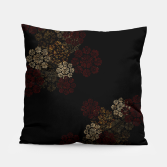 Thumbnail image of Japanese traditional emblem art cherry blossoms black Pillow, Live Heroes