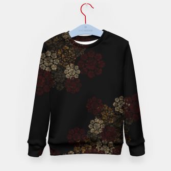 Miniatur Japanese traditional emblem art cherry blossoms black Kid's sweater, Live Heroes