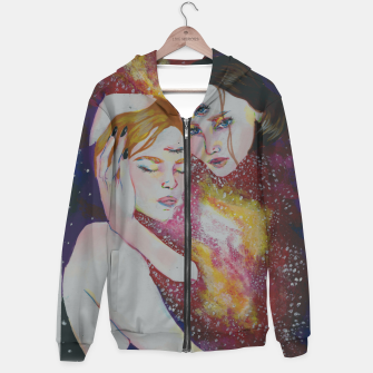 Thumbnail image of Astronomical Cotton zip up hoodie, Live Heroes