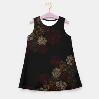 Thumbnail image of Japanese traditional emblem art cherry blossoms black Girl's summer dress, Live Heroes