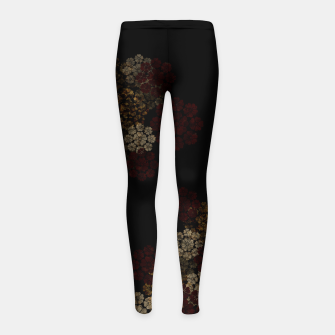 Thumbnail image of Japanese traditional emblem art cherry blossoms black Girl's leggings, Live Heroes