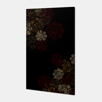 Thumbnail image of Japanese traditional emblem art cherry blossoms black Canvas, Live Heroes