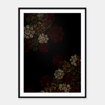 Miniatur Japanese traditional emblem art cherry blossoms black Framed poster, Live Heroes