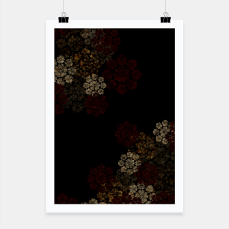 Miniatur Japanese traditional emblem art cherry blossoms black Poster, Live Heroes