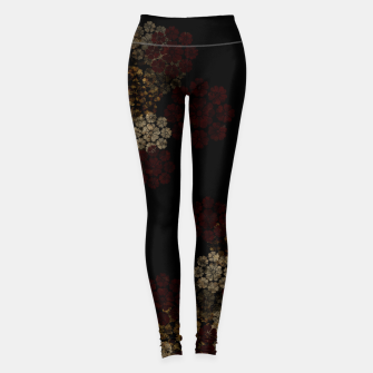Thumbnail image of Japanese traditional emblem art cherry blossoms black Leggings, Live Heroes