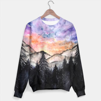 Miniatur Evening Mountains2 Cotton sweater, Live Heroes