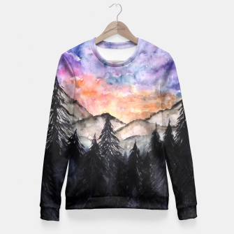 Miniatur Evening Mountains2 Woman cotton sweater, Live Heroes