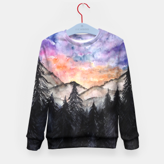 Miniatur Evening Mountains2 Kid's sweater, Live Heroes