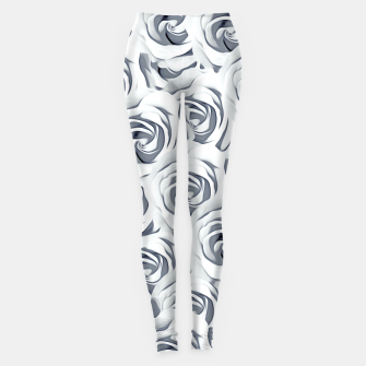 Thumbnail image of rose pattern texture abstract background in black and white Leggings, Live Heroes