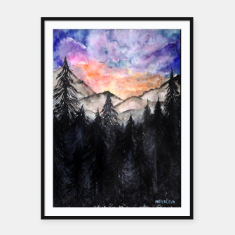 Miniatur Evening Mountains2 Framed poster, Live Heroes
