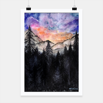 Miniatur Evening Mountains2 Poster, Live Heroes