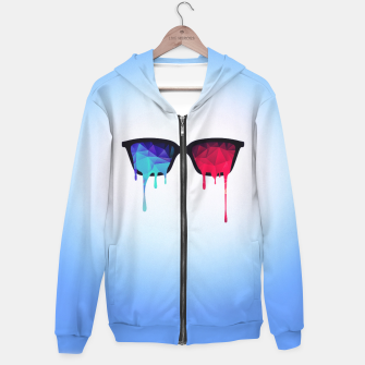 Miniature de image de  3D Psychedelic / Goa Meditation Glasses Cotton zip up hoodie, Live Heroes