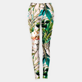 Thumbnail image of Pattern floral tropical 001 Leggings, Live Heroes