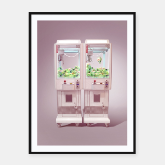 Thumbnail image of Claw Machine Framed poster, Live Heroes