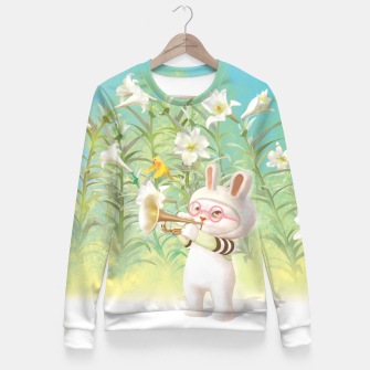 Thumbnail image of Blooming Lily Woman cotton sweater, Live Heroes