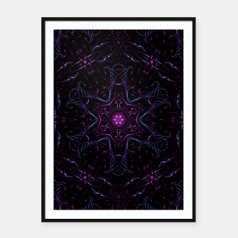 Miniatur Abstract Mandala Pattern Framed poster, Live Heroes