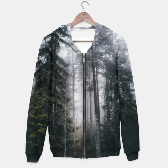 Thumbnail image of Into the forest we go Cotton zip up hoodie, Live Heroes