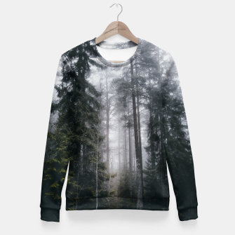 Thumbnail image of Into the forest we go Woman cotton sweater, Live Heroes