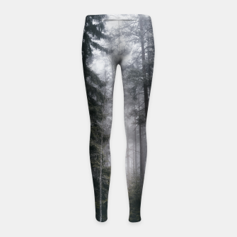 Thumbnail image of Into the forest we go Girl's leggings, Live Heroes