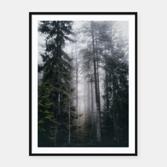 Thumbnail image of Into the forest we go Framed poster, Live Heroes