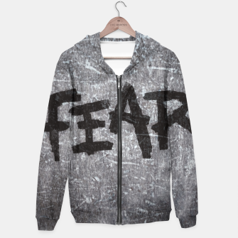 Thumbnail image of fear Cotton zip up hoodie, Live Heroes