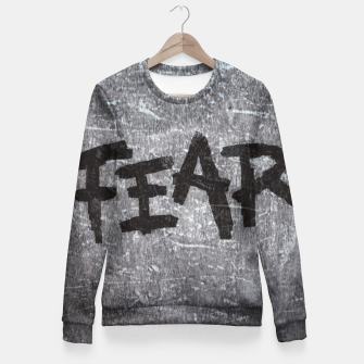Thumbnail image of fear Woman cotton sweater, Live Heroes