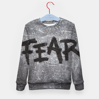 Thumbnail image of fear Kid's sweater, Live Heroes
