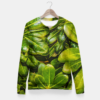 Thumbnail image of Top View Leaves Photo Woman cotton sweater, Live Heroes
